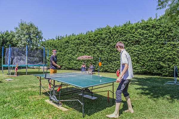 ping pong camping Isère